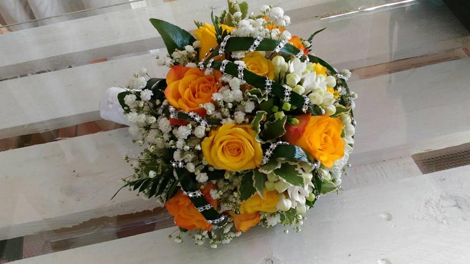 bouquet matrimonio colorato