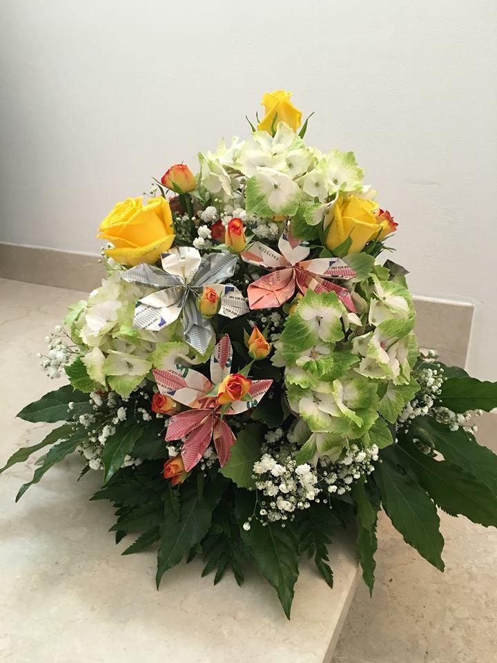 fiori con soldi